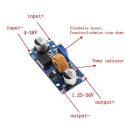XL4015 5A Ayarlanabilir DC/DC Voltaj Düşürücü - Thumbnail