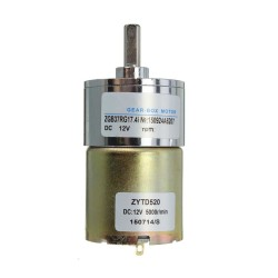 ZYTD520 6V-12V-24V 5 RPM 37mm Redüktörlü DC Motor - Thumbnail