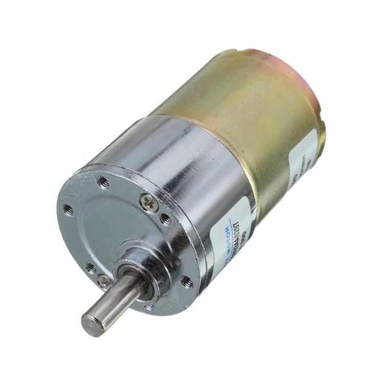 ZYTD520 6V-12V-24V 50 RPM 37mm Redüktörlü DC Motor